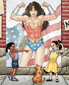 From the cover of Wonder Woman vol 3 #25 by Aaron Lopresti